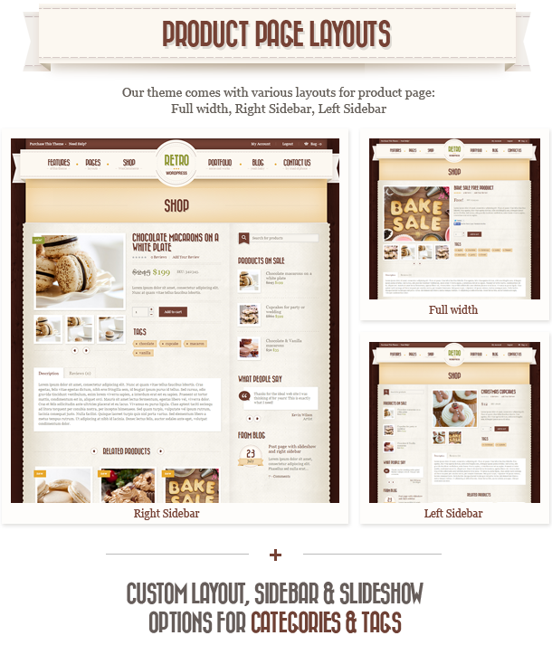 Retro WordPress Theme WooCommerce