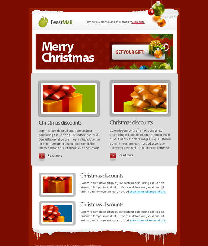 FEASTMAIL – CHRISTMAS EMAIL TEMPLATE | Retro | Premium Vintage ...