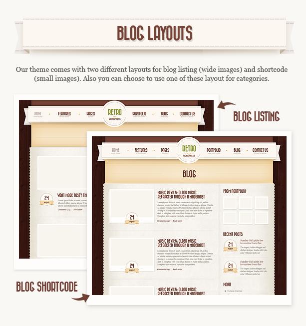 Retro - Vintage WordPress Theme