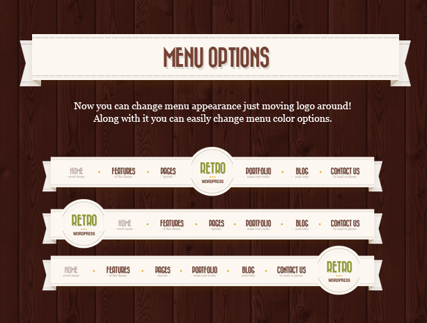 menu n - Retro - Vintage WordPress Theme