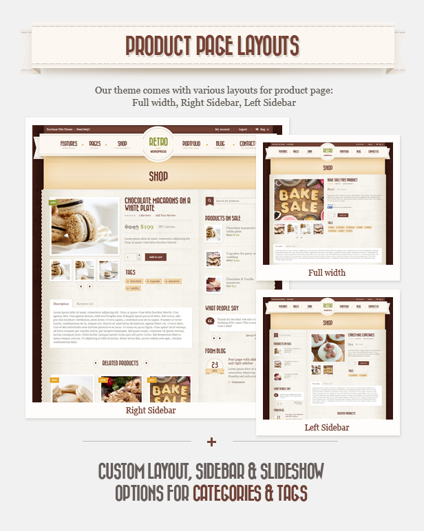 product page g - Retro - Vintage WordPress Theme