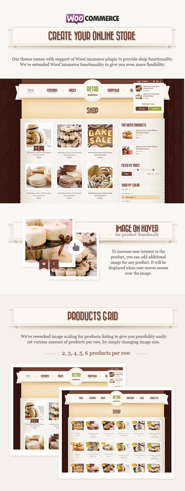 woo n - Retro - Vintage WordPress Theme